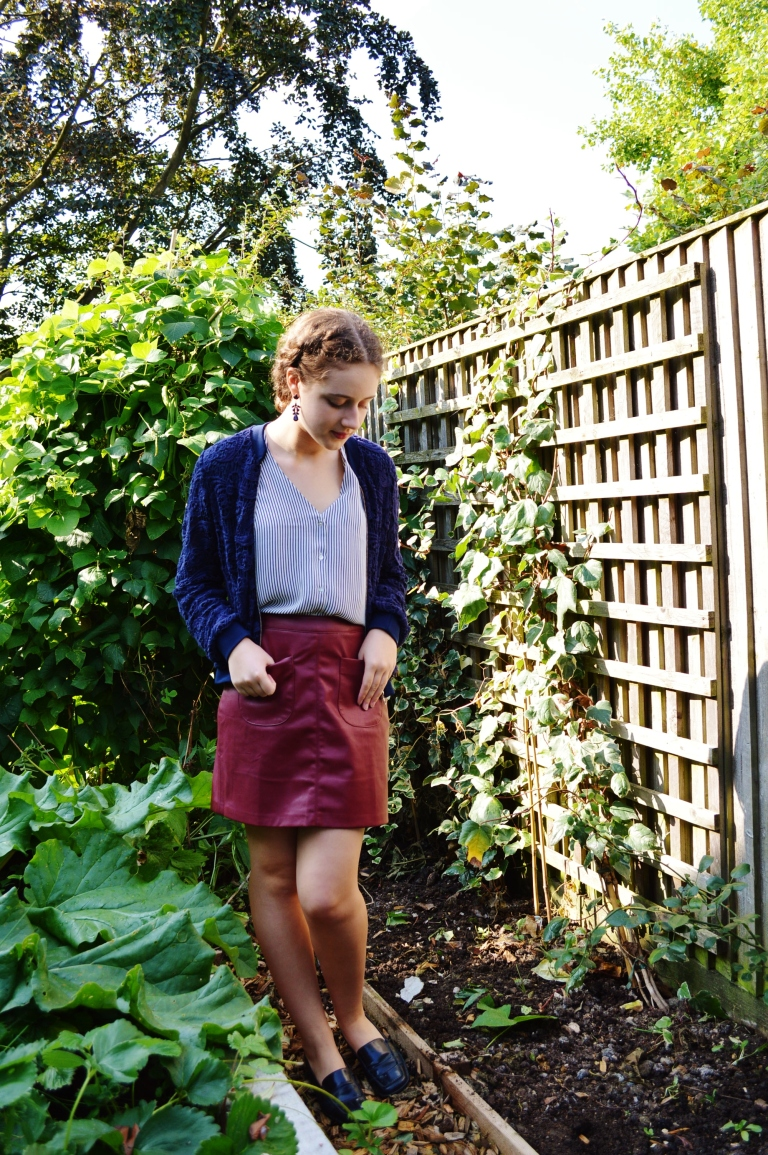 Bomber and leather skirt 006 (2)
