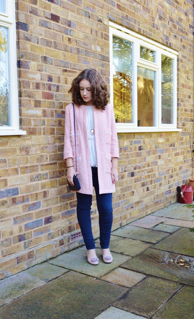 Pink coat ootd 004