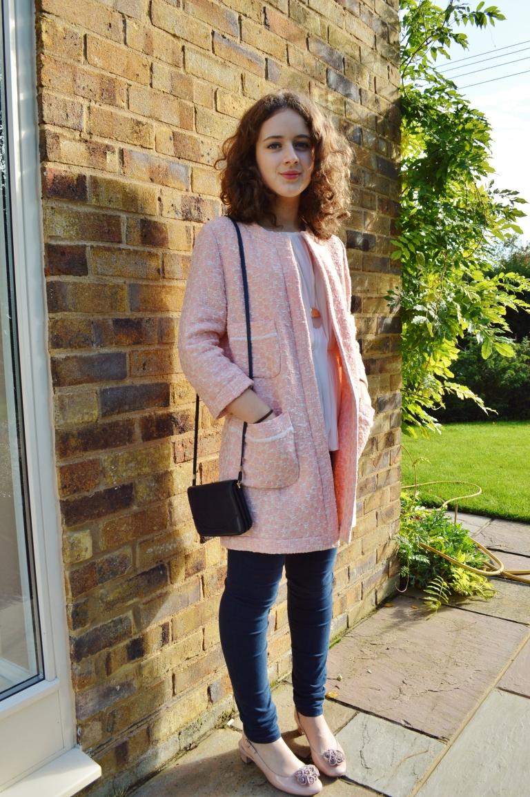 Pink coat ootd 051