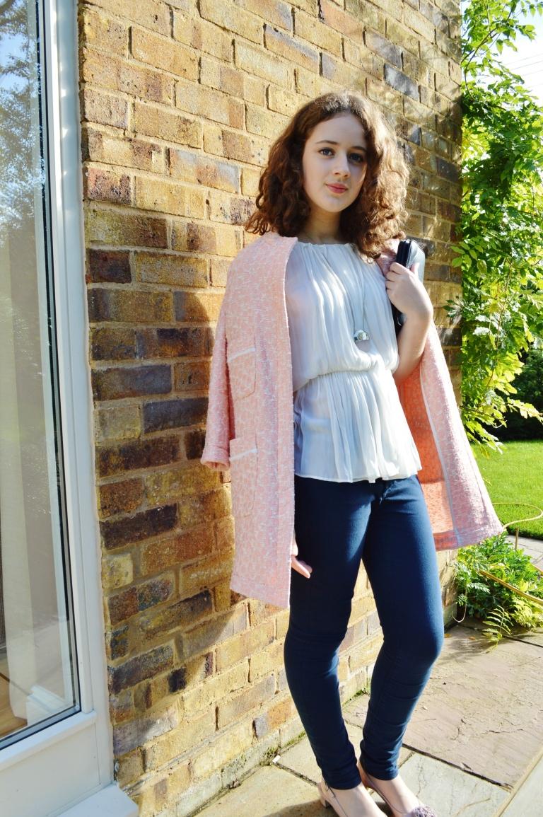 Pink coat ootd 074